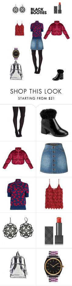 """""""Red Retro Winter Look"""" by kaya ❤ liked on Polyvore featuring Commando, LE3NO, Baum und Pferdgarten, Simply Vera, Burberry, Eastsport and Nixon"""