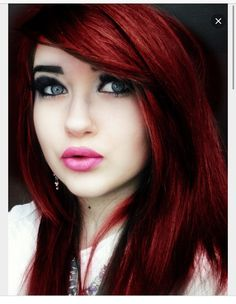 Dark intense red hair