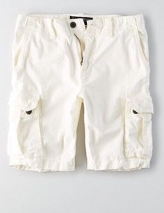"""NWT American Eagle Mens White At the Knee 10.5"""" Classic Cargo Shorts  Size 36 #AmericanEagle #Cargo"""
