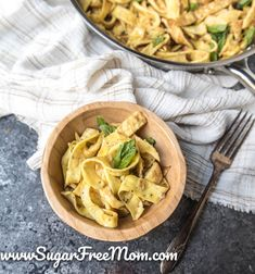 Just 5 ingredients for these easy, tasty, keto egg noodles which are also nut free and gluten free! | Sugar Free Mom