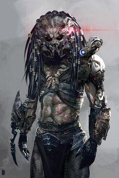 Alien Vs Predator, Predator Movie, Predator Alien, Wolf Predator, Arte Sci Fi, Sci Fi Art, Predator Tattoo, Alien Concept Art, Alien Design