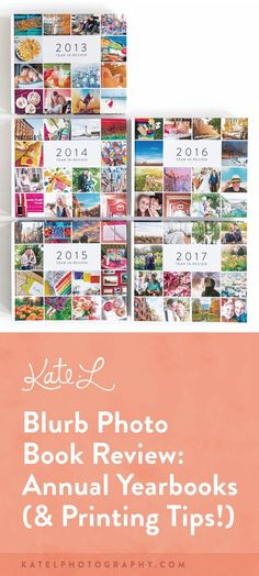 Blurb Photo Book Review: Our Annual Yearbooks - Boston Family Photographer | Kate L Photography