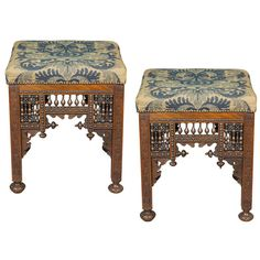 Pair of Anglo Indian Stools | From a unique collection of antique and modern stools at http://www.1stdibs.com/furniture/seating/stools/