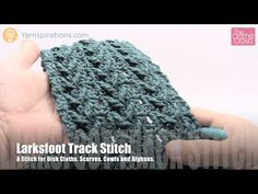 How to Crochet Larksfoot Track Stitch - YouTube