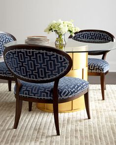 Shadowbox Dining Chair by Massoud at Neiman Marcus.