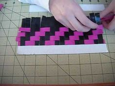 Duct Tape Zig Zag Weave Tutorial