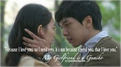 My Girlfriend is a Gumiho ~ haven't seen this one yet, but what a sweet line.