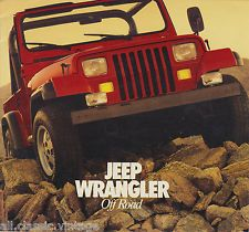 JEEP - Wrangler Off Road/On Road brochure/prospekt/folder English | eBay