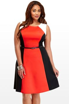 Miranda Colorblock Dress plus size #UNIQUE_WOMENS_FASHION