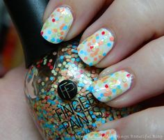 Finger Paints Three's A Party from the Pop Movement for Summer 2014 Swatches & Review via @Stephanie Close Close Louise Telford #nails #nailart #glitter