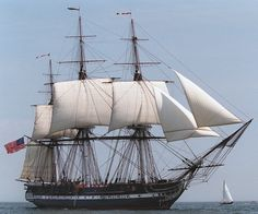 Navires de guerre de l'époque de la marine à voile.