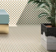 House of Tiles: Concept Space & Tile Collection by Marcante-Testa. Conceptual Architecture, Concrete Architecture, Architectural Materials, Geometric Tiles, Tile Projects, Confetti, Tile Design, Furniture Design, House