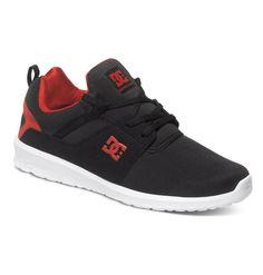 Zapatillas/Sneakers/Mens DC Shoes Heatthrow Black/Red (BLR) ADYS70007 Super cómodos!