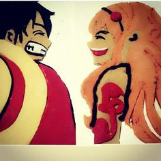 Fondan nami n luffy handmade by me for him my boy
