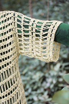 Made in Crochet, handmade - Handmade. Crochet Jacket, Crochet Poncho, Crochet Cardigan, Irish Crochet, Diy Crochet, Freeform Crochet, Crochet Stitches, Crochet Patterns, Crochet Magazine