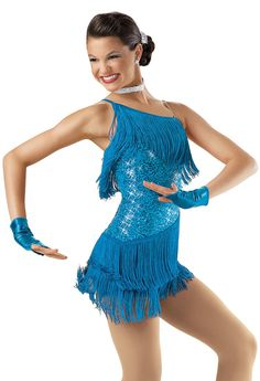 Weissman™   One-Shoulder Sequin Fringe Dress Wish I'd had had a costume like this one for my Razzle Dazzle Solo in 2006. It looks so much better than what I picked then.