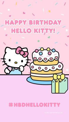 Hello Kitty Backgrounds, Hello Kitty Wallpaper, Hello Kitty Birthday, Happy Birthday, Sanrio, Overlays, Birthdays, Super Cute, Snoopy