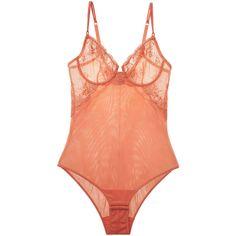 0b618a3e20 La Perla Women s Floral Embroidered Bodysuit - Orange