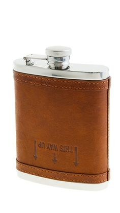 Leather bound flask #stockingstuffer
