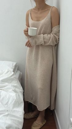Now I could absolutely live in this womens lounging gown - soft cozy flattering. - Now I could absolutely live in this women's lounging gown – soft cozy flattering…ready for work and other indoor activities! Source by Hyeonies - Look Fashion, Fashion Outfits, Womens Fashion, Looks Style, Style Me, Pijamas Women, Look Boho, Mode Inspiration, Fashion Inspiration