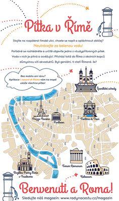 Jak zahnat žízeň v Římě? Nemusíte utrácet za balenou vodu. #Řím je posetý krásnými pítky a fontánkami, které vás osvěží zdarma. Více tipů na procházky po Římě hledejte na: http://www.radynacestu.cz/magazin/rim/