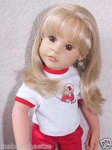 Götz Steiff Puppe Gotz Doll Giselle OOAK, braune Augen