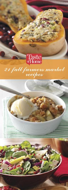 21 Fall Famers Market Recipes (from Taste of Home)