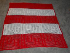 University of Houston Cougars Crocheted Red & White by FlynnsEtc