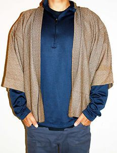 kimono style robe short | Details about Japan Mens Short Kimono samurai style Haori coat Robe ...
