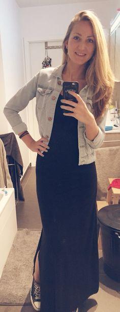Jeans. Black. Allstars. Blonde. Maxi dress love