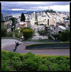 San Francisco... Lombard Street is one street that I would never attempt to drive down. But, I did walk it :D