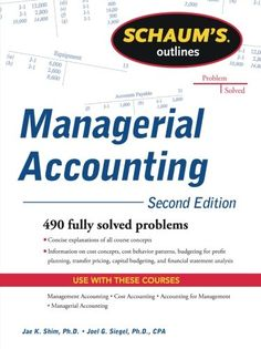 Schaum's Outline of Managerial Accounting, 2nd Edition (Schaum's Outline Series) Check more at http://www.indian-shopping.in/product/schaums-outline-of-managerial-accounting-2nd-edition-schaums-outline-series/
