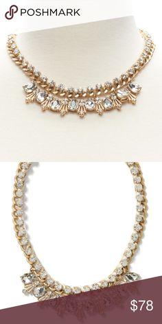 Spotted while shopping on Poshmark: Banana Republic gold ribbon sparkle necklace-NWT!! #poshmark #fashion #shopping #style #Banana Republic #Jewelry