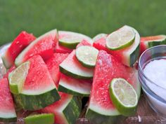 Picture this Slices of juicy sweet cold watermelon infused with fresh lime juice tequila cointreau and sprinkled with a little bit of margarita salt Yes its like eating a little