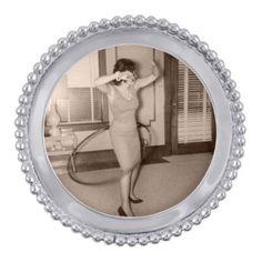 "Mariposa Beaded Round Photo Frame - Opening-4""D"