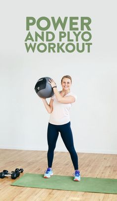 Get your workout on with this Power and Plyo Workout. This is a circuit workout that has 6 different circuits composed of a strength move and a plyometric cardio move. Do each circuit 3 times for a fun, energizing workout that will get you sweaty and feeling ready to crush the day. #athomeworkout #workout #plyoworkout #plyo #fitness