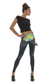 Leggings diseño exclusivo fabricado en España Modelo DIAMANTE www.legx.es