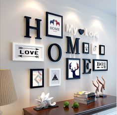 European Stype Home Design Wedding Love Photo Frame Wall Decoration Wooden Picture Frame Set Wall Photo Frame Set, White Black-in Frame from Home & Ga… - New Deko Sites Picture Frame Sets, Wooden Picture Frames, Photo Frame Ideas, Photo Frame Decoration, Decoration Pictures, Decorating With Picture Frames, Photo Frames Diy, Black Frames On Wall, Wooden Frames