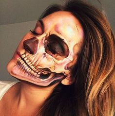 Explore Halloween Makeup Ideas of All Time in this gallery. We share a huge collection of the best Halloween makeup ideas ever shared on internet. Makeup Fx, Scary Makeup, Vanessa Davis, Horror Make-up, Skeleton Makeup, Theatrical Makeup, Halloween Makeup Looks, Special Effects Makeup, Fantasy Makeup