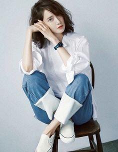 Korean Beauty, Asian Beauty, Hair Style Korea, Yoona Snsd, Chinese Actress, Korean Actresses, Girls Generation, Asian Girl, Short Hair Styles