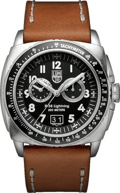 Luminox Watch P-38 Lightning #add-content #bezel-unidirectional #bracelet-strap-leather #brand-luminox #case-depth-13-1mm #case-material-steel #case-width-44mm #chronograph-yes #classic #date-yes #delivery-timescale-1-2-weeks #dial-colour-black #gender-mens #movement-quartz-battery #new-product-yes #official-stockist-for-luminox-watches #packaging-luminox-watch-packaging #style-sports #subcat-air #supplier-model-no-xa-9447 #warranty-luminox-official-2-year-guarantee #water-resistant-200m