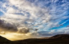 Dramatic skyscape - Dramatic skyscape over south Iceland landscape