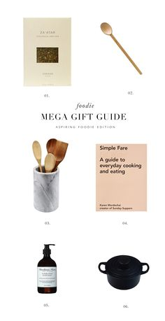 Aspiring foodie gift guide filled with resources for the well appointed kitchen. #foodie