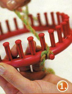 doudous au crochet et bases tricotin rond