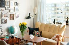 Small swedish apartment, amazing clock collection
