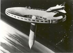 A 1977 concept drawing for a space station. Known as the Spider concept