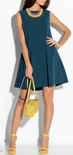 Easy Tips To Develop A Great Fashion Sense! Simple Dresses, Casual Dresses, Latest Fashion For Women, Womens Fashion, Moda Casual, Teen Girl Outfits, Classic Outfits, Clothing Patterns, Women's Clothing