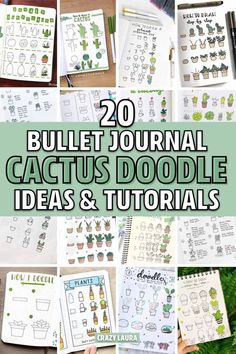 20 Best Succulent & Cactus Doodle Ideas For Bujo Addicts - Crazy Laura - Check out these 20 creative step by step cactus and succulent doodle ideas for your bullet journal - Bullet Journal Spread, Bullet Journal Layout, Bullet Journal Inspiration, Bullet Journals, Cactus Doodle, Cute Smiley Face, Bujo Doodles, Flower Doodles, Doodle Flowers