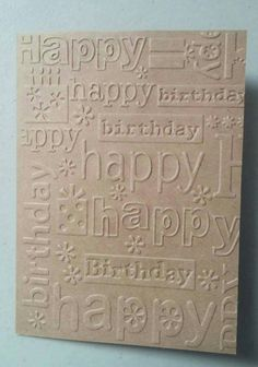 Embossed Happy Birthday Card Set-- 6 cards, 6 envelopes, and 1 gift box
