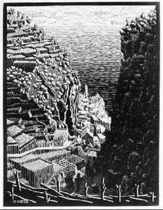 #Atrani, Coast of Amalfi - M.C. #Escher, 1932